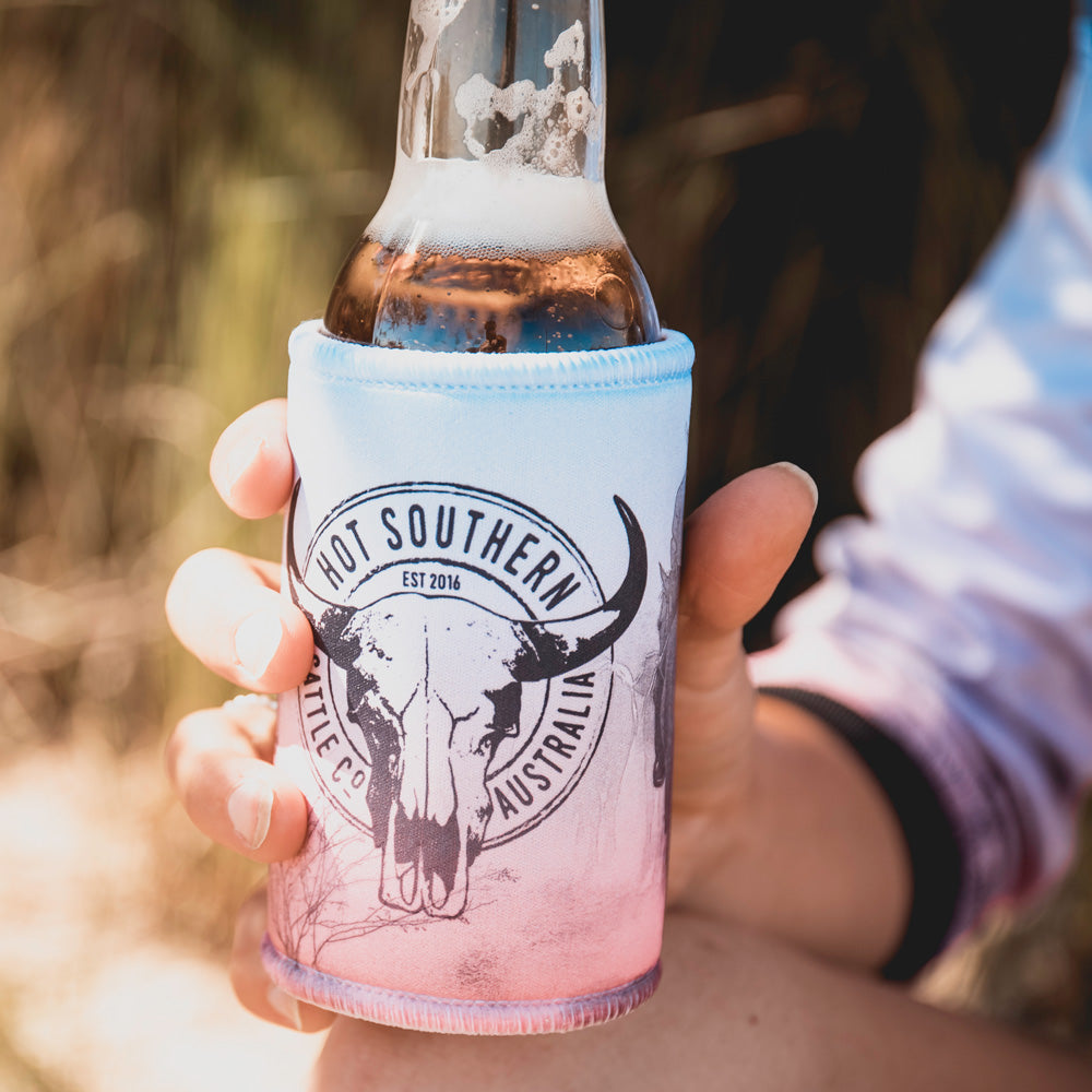Hot Southern Cattle Co Beer Can Stubby Bottle Cooler Holder - Drover
