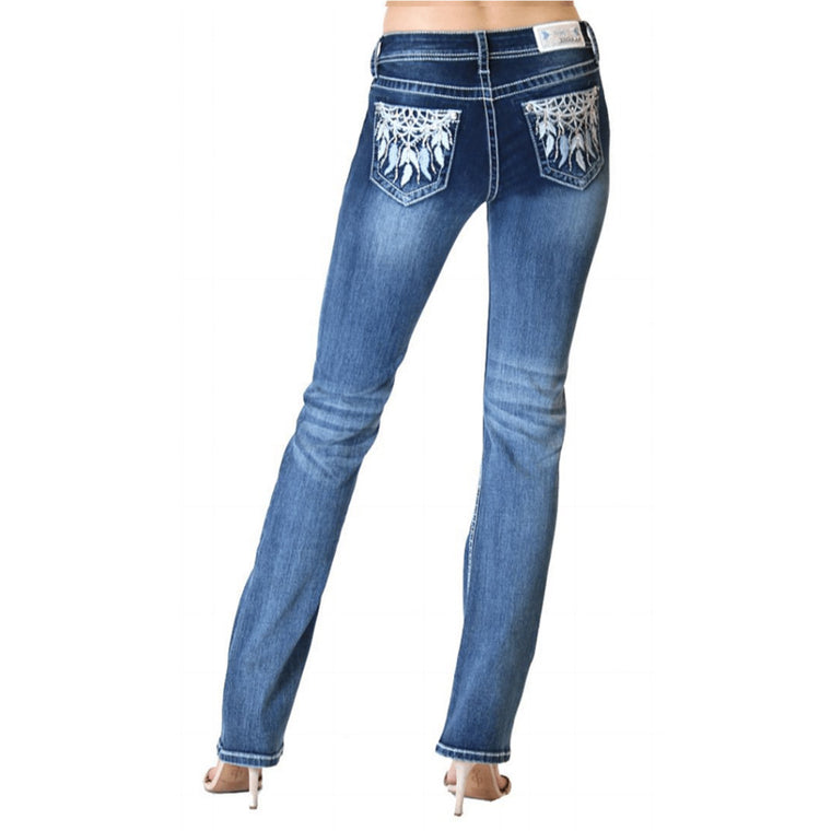 Easy Fit Midrise Bootcut Jeans - Eva - Grace In La - [Only One size 32 LEFT] 30% OFF [NO Refunds/Exchanges]
