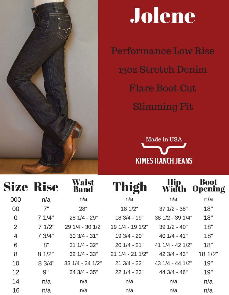 Kimes Ranch Jeans - Jolene - [Only size 0/32, 8/36, 10/32, 10/36 & 10/38 LEFT] 35% OFF [NO Refunds/Exchanges]