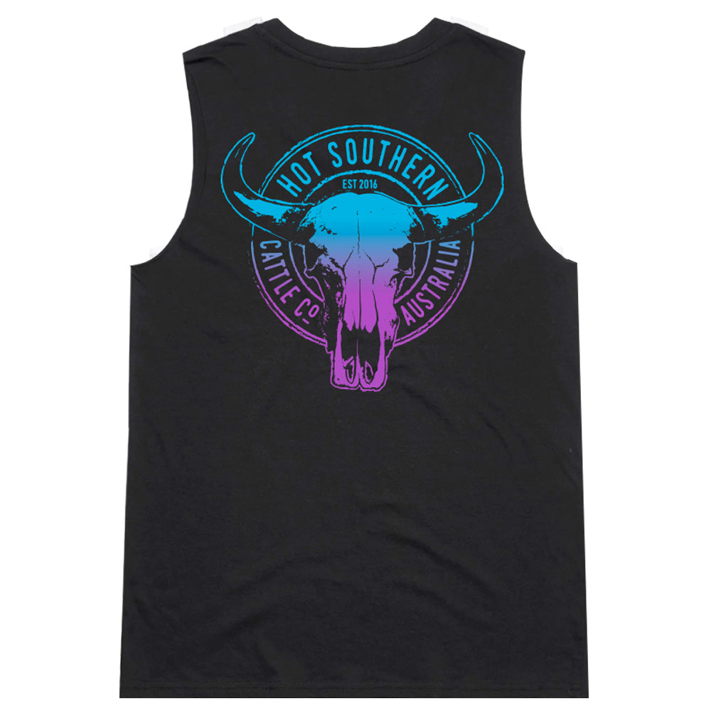 Hot Southern Miss Turquoise/Purple Cattle Co Black Women's Original Tank