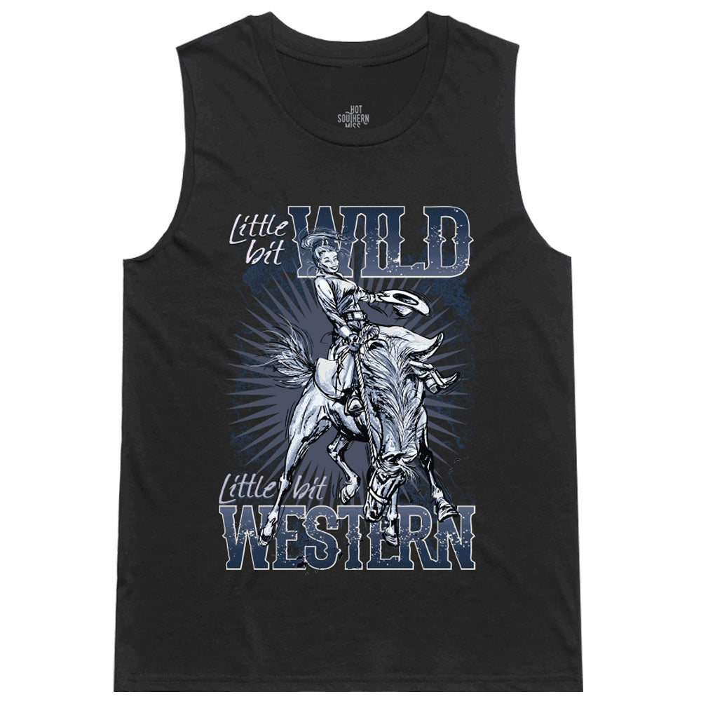 Hot Southern Miss Wild & Western Black Women's Original Tank