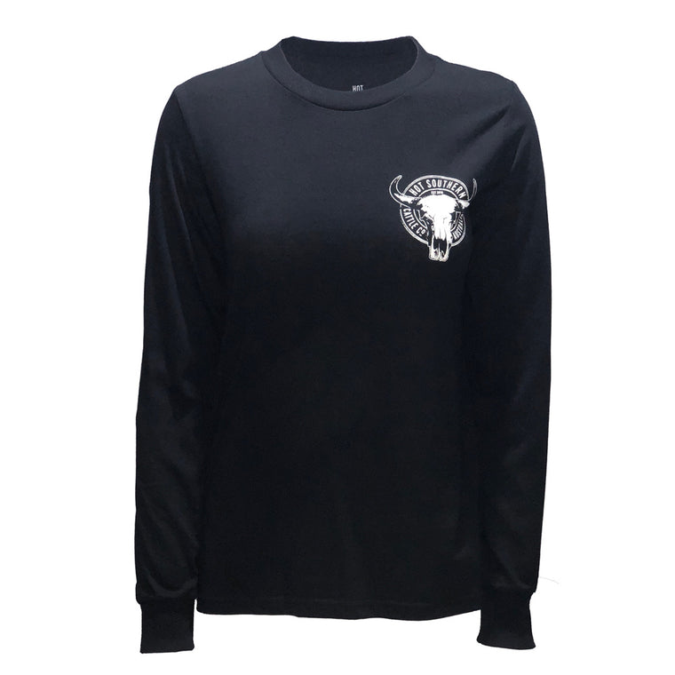 Hot Southern Cattle Co Black Long Sleeve T-Shirt