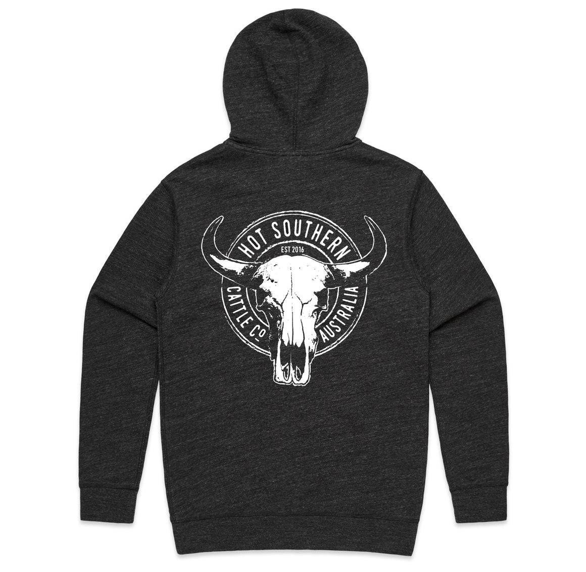 Hot Southern Cattle Co Black Fleck Premium Zip Up Hoodie - Unisex Fit - [Only ONE size Small LEFT] 30% OFF [NO Refunds/Exchanges]