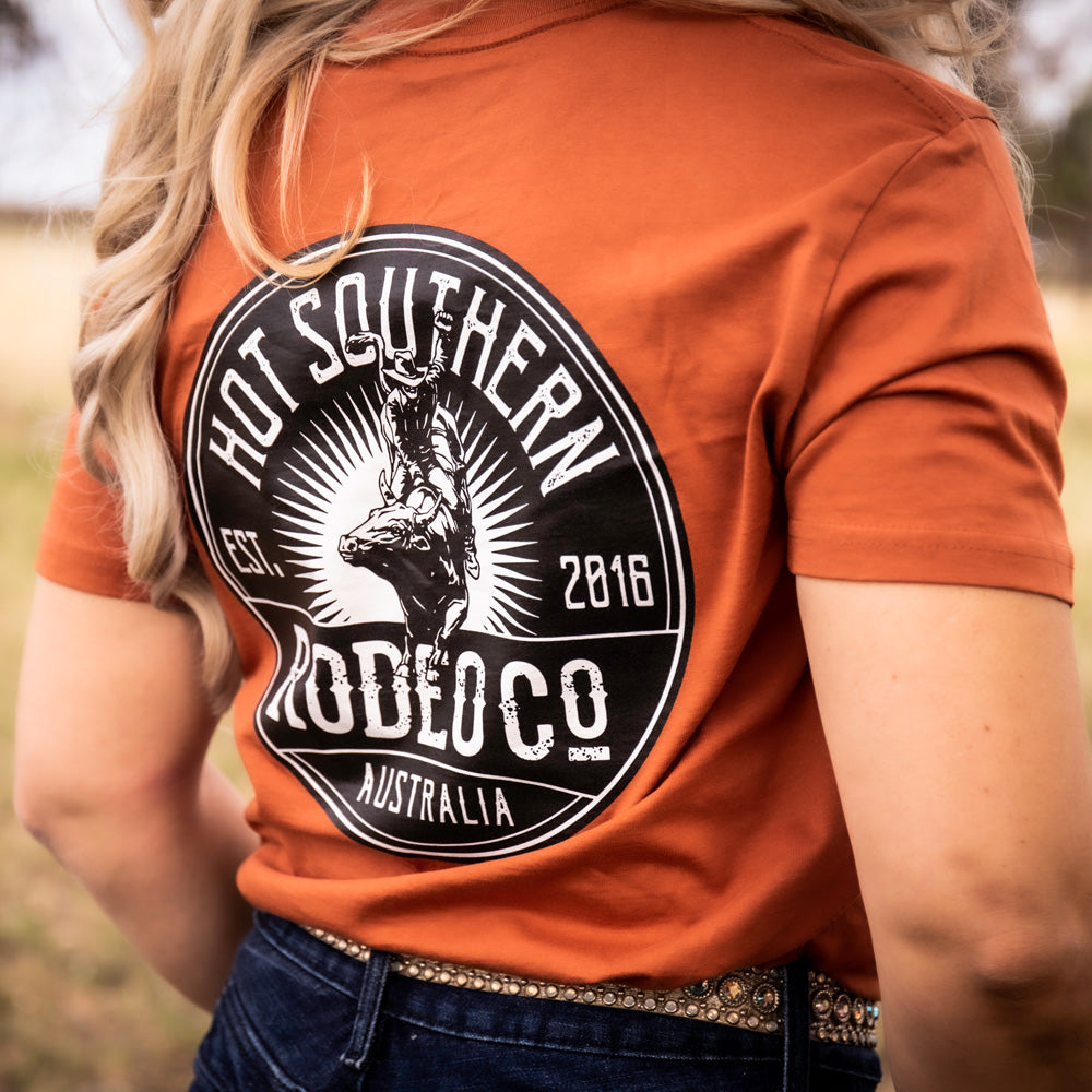Bull Rodeo Co Unisex Copper Tee