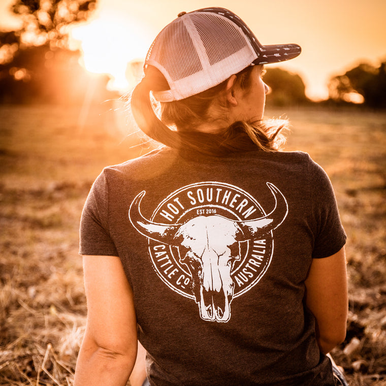Hot Southern Cattle Co Charcoal Marle T-Shirt