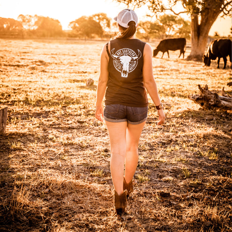 Hot Southern Cattle Co Charcoal Muscle Tank - Unisex Fit