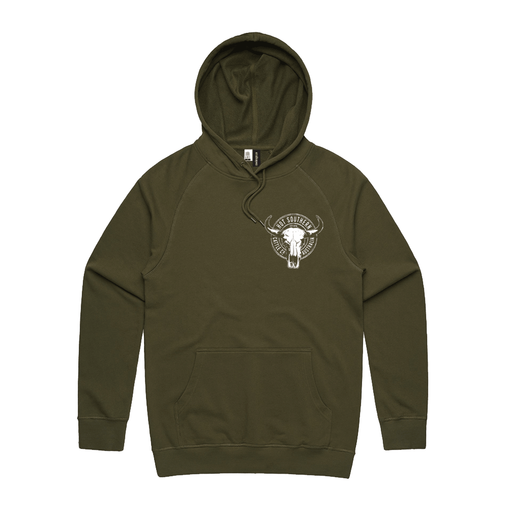 Hot Southern Cattle Co Khaki Premium Hoodie - Unisex Fit - [Only size L & XL LEFT] 30% OFF [NO Refunds/Exchanges]