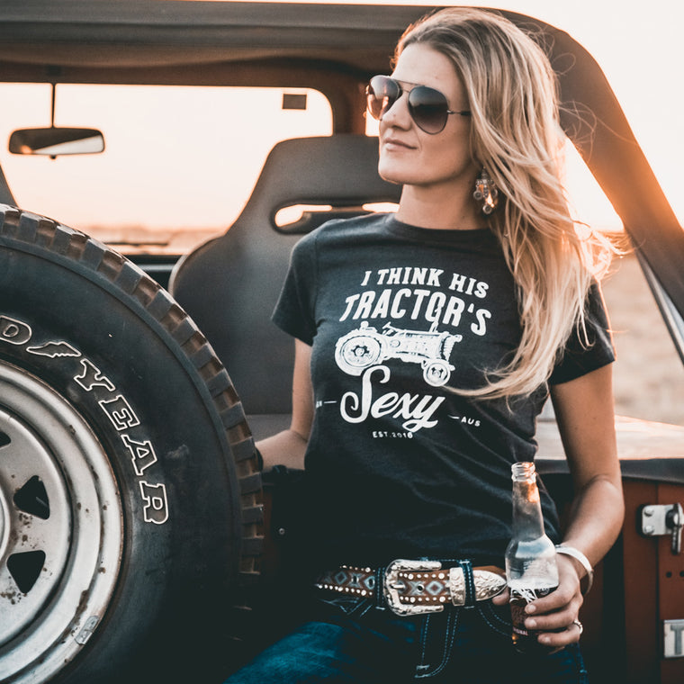 Tractor Ladies Charcoal Marle Tee
