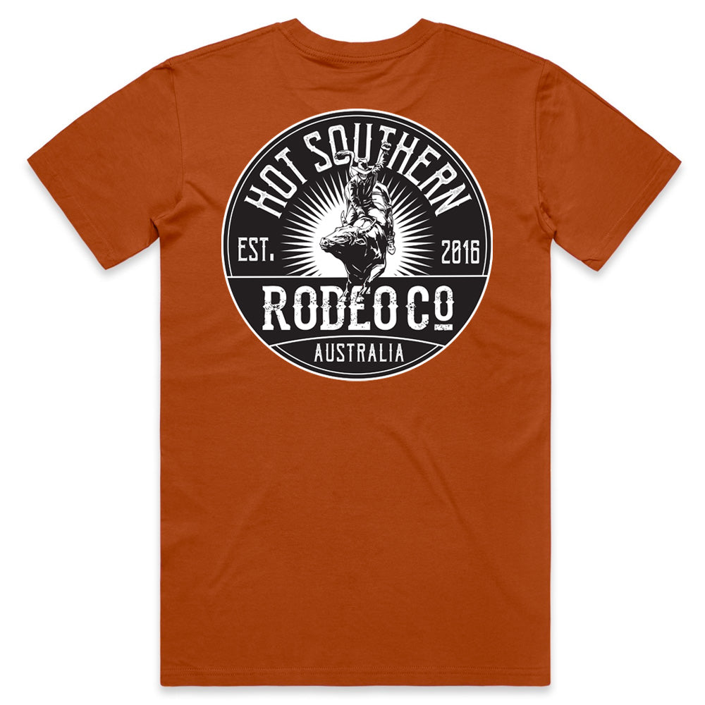 Hot Southern Rodeo Co Bull Rider Copper T-Shirt - Unisex Fit