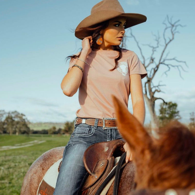 Cattle Co Ladies Dusty Pink Tee