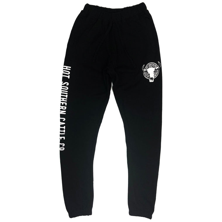 Hot Southern Cattle Co Black Track Pants