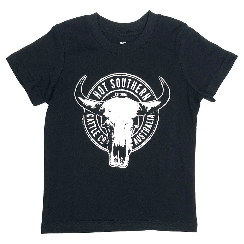Hot Southern Cattle Co Kids Black T-Shirt - [Only one size 6 LEFT] 50% OFF [NO Refunds/Exchanges]