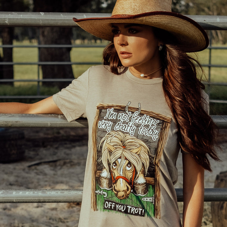 Off You Trot Unisex Sand Tee