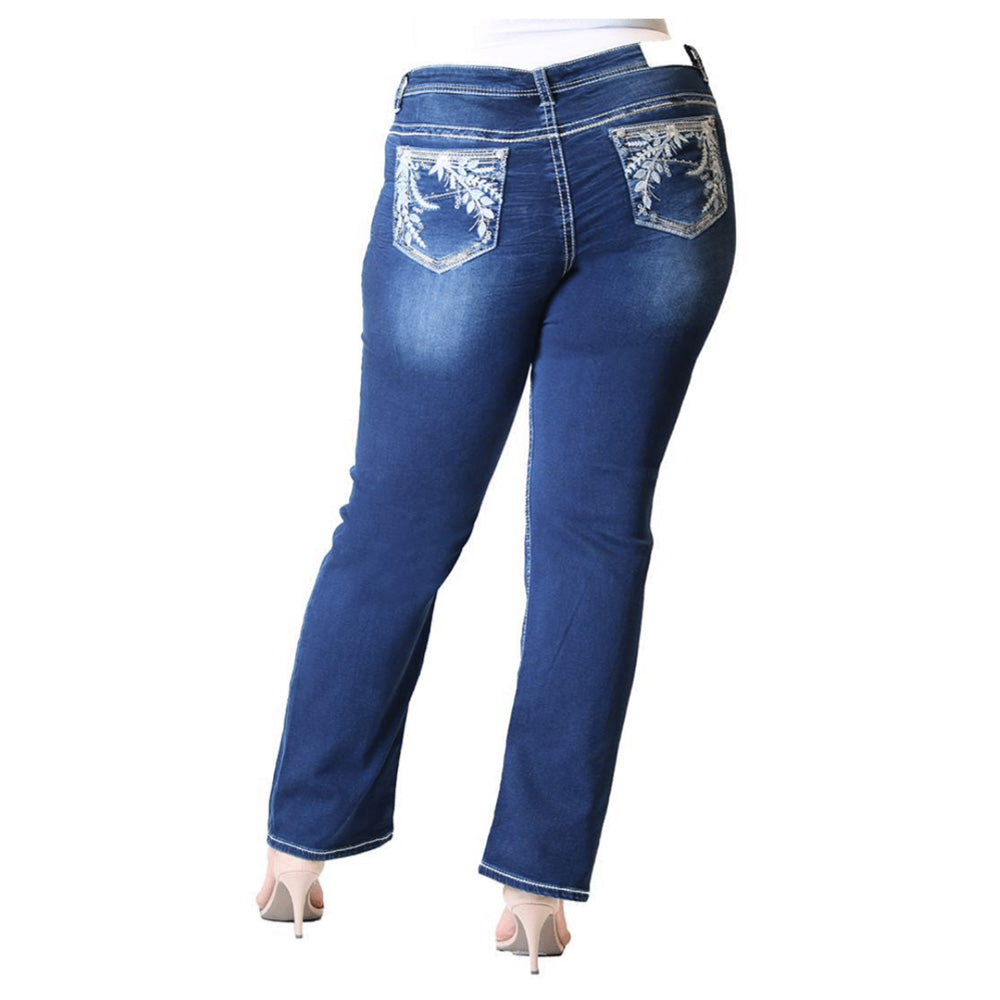 Plus Size Straight Leg Jeans - Devine - Soft Denim - Grace In La - [Only ONE size 18 LEFT] 30% OFF [NO Refunds/Exchanges]