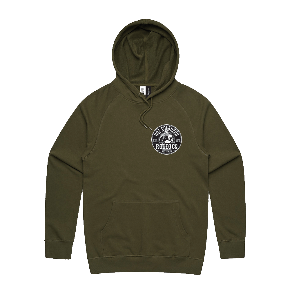Hot Southern Bronc Rodeo Co Bronc Khaki Premium Hoodie - Unisex Fit - [Only size L & XL LEFT] 30% OFF [NO Refunds/Exchanges]