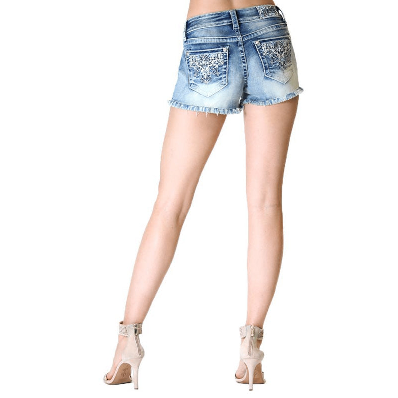 Denim Shorts - Sadie - Grace In La - [Only ONE size 24 LEFT] 50% OFF [NO Refunds/Exchanges]