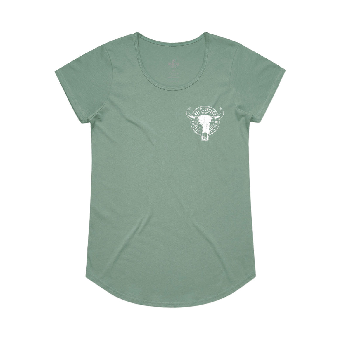 Hot Southern Cattle Co Sage Womens Scoop T-Shirt