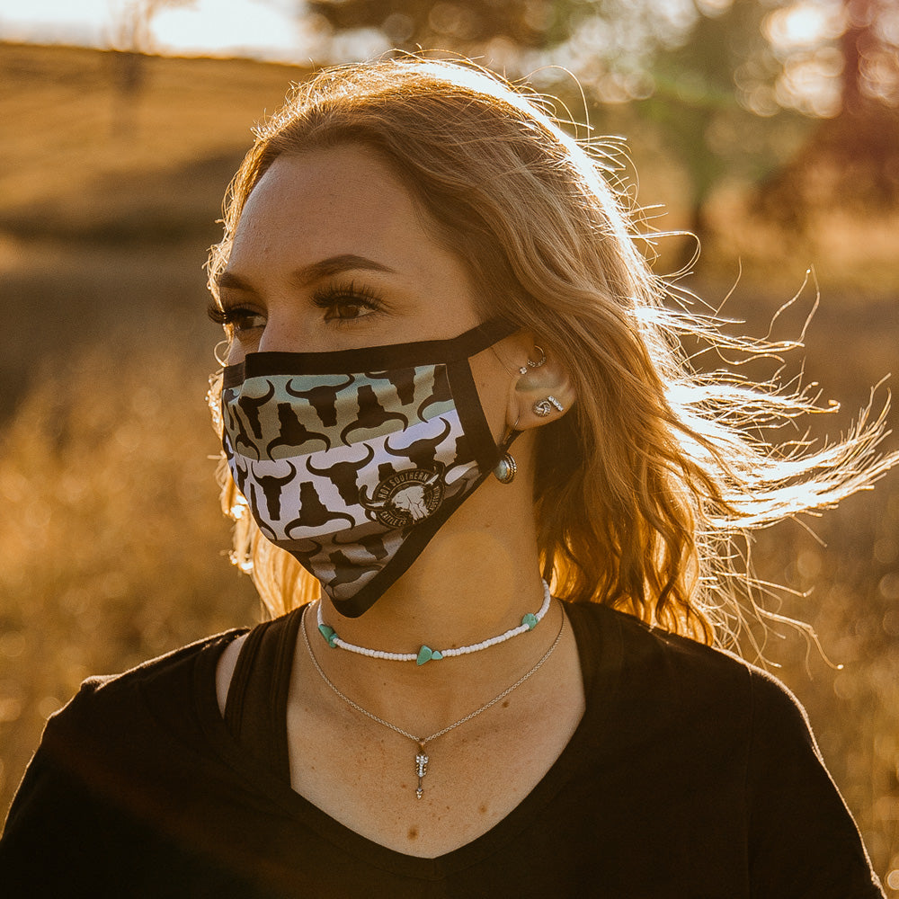 Cattle Co Sage Face Mask