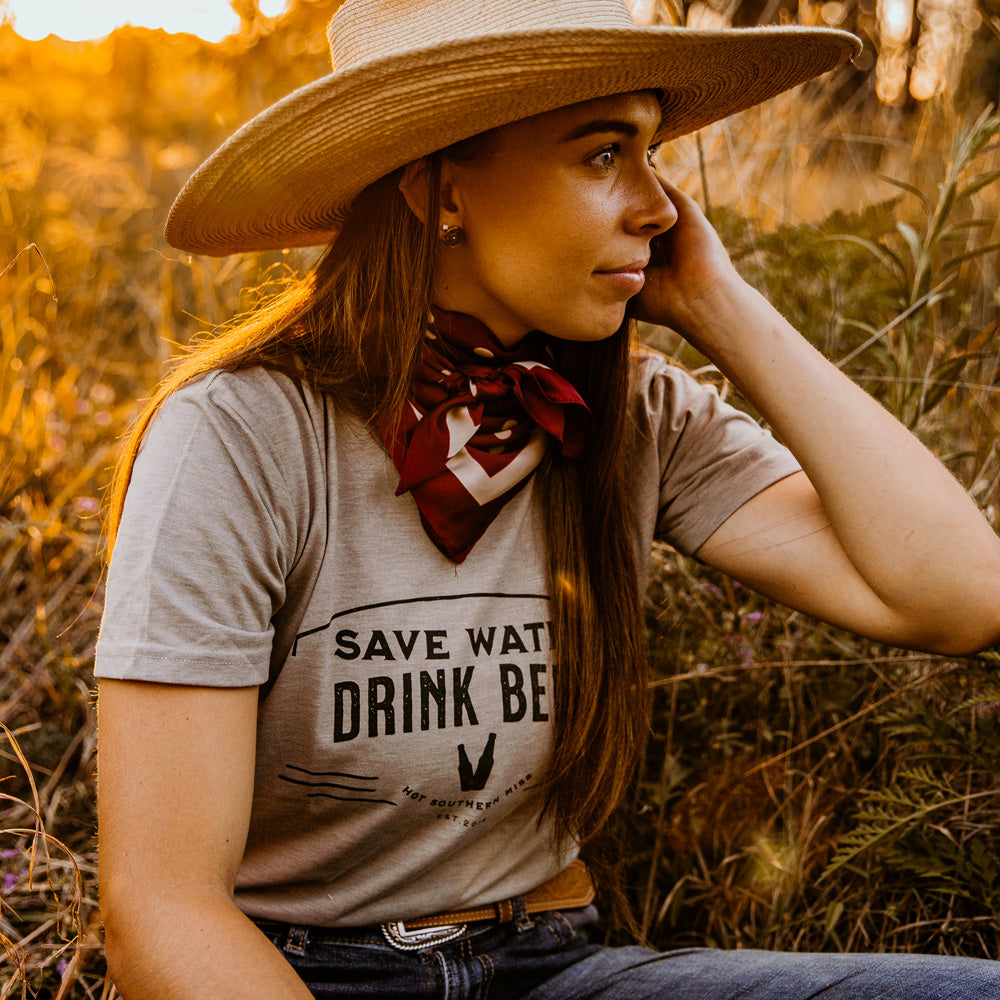 Save Water Unisex Sand Tee