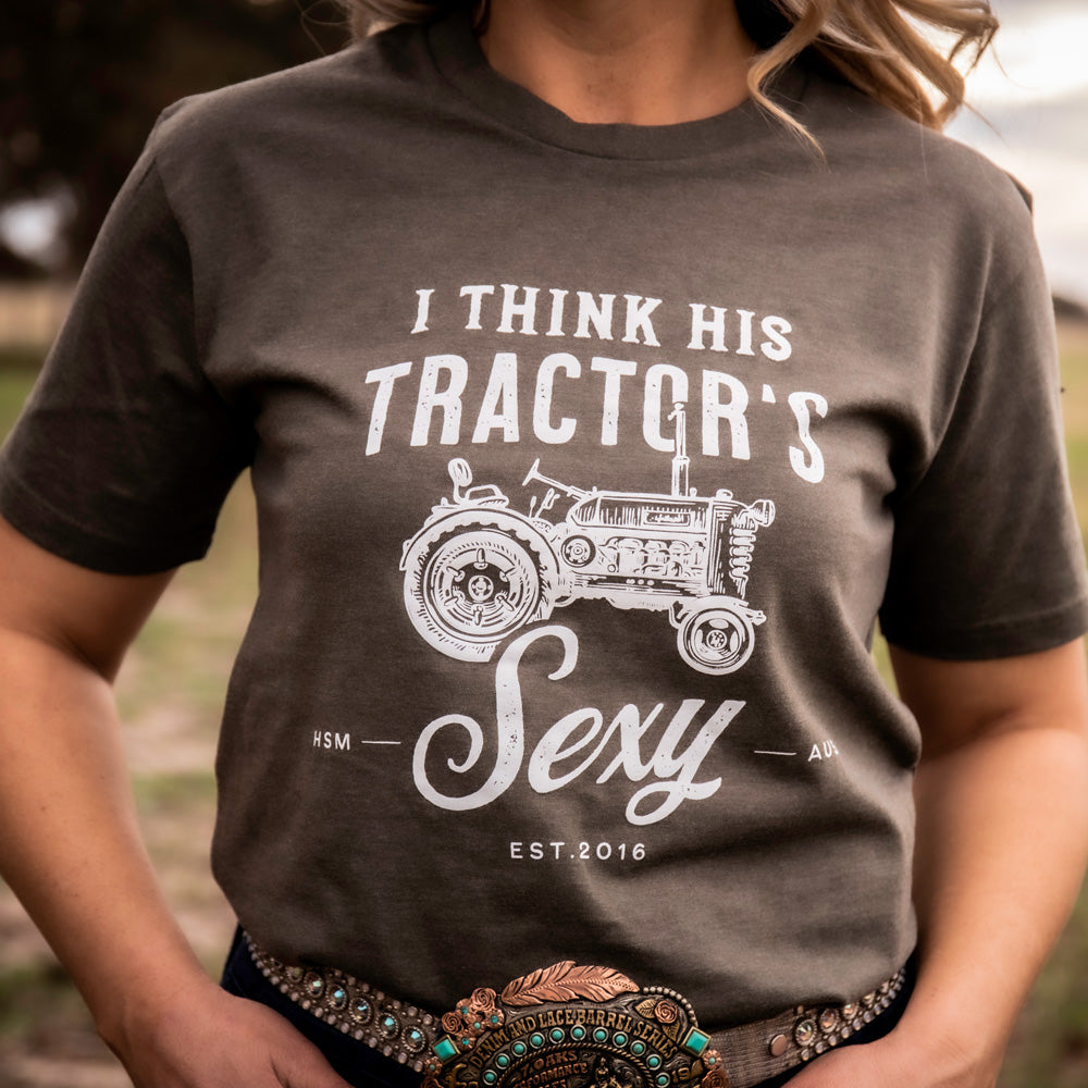 Tractor Unisex Olive Marle Tee