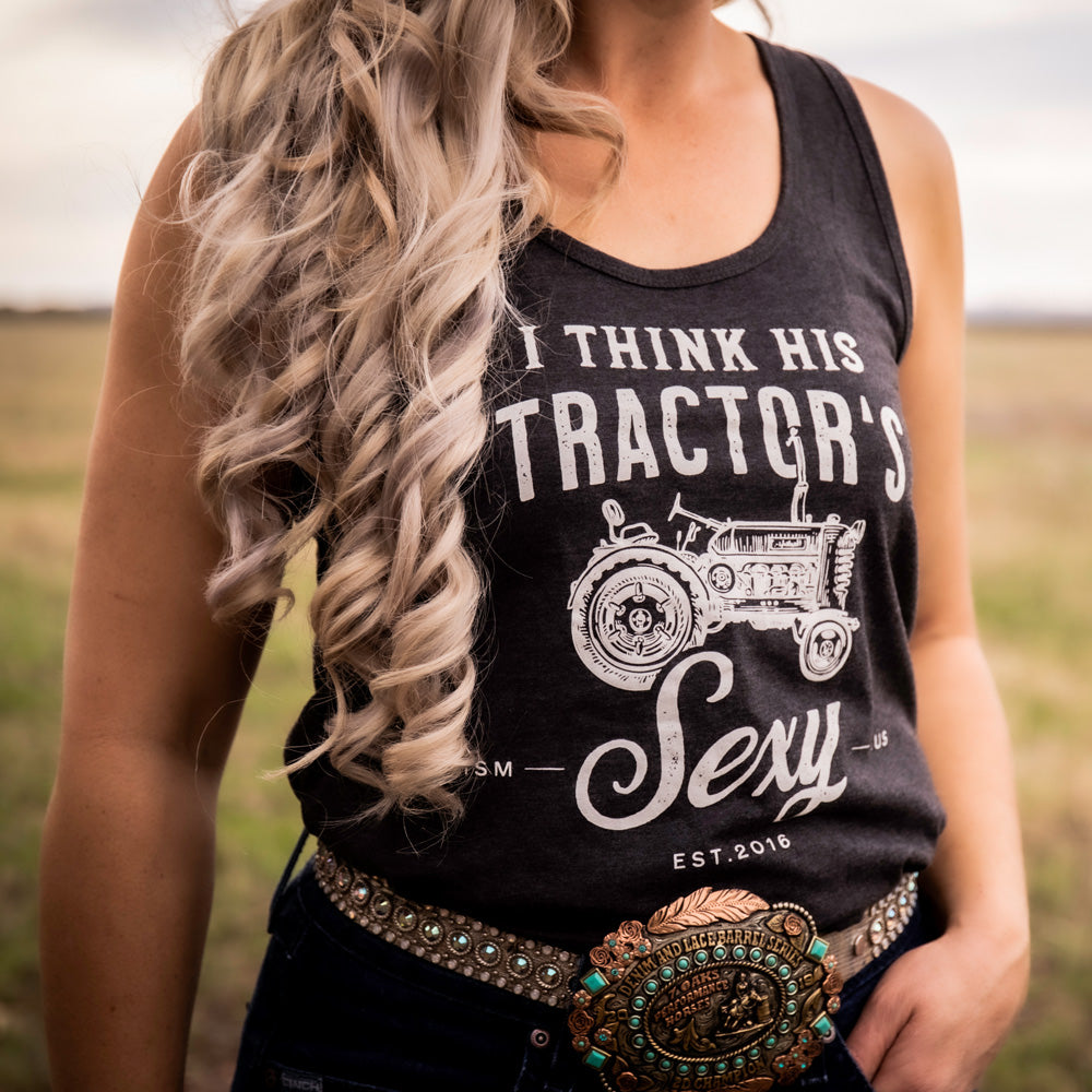Tractor Ladies Charcoal Marle Singlet