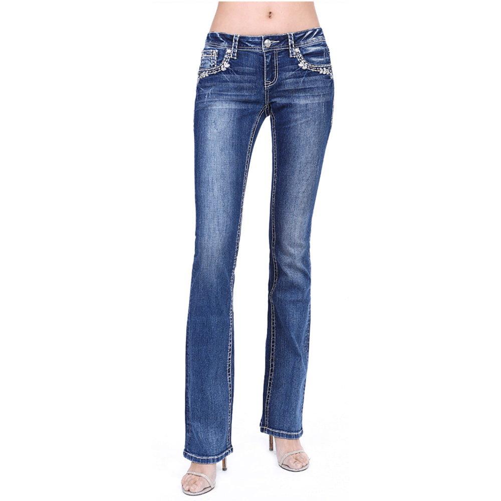 Lowrise Bootcut Jeans - Delilah - Grace In LA - [Only sizes 29, 30 & 31 LEFT] 30% OFF [NO Refunds/Exchanges]
