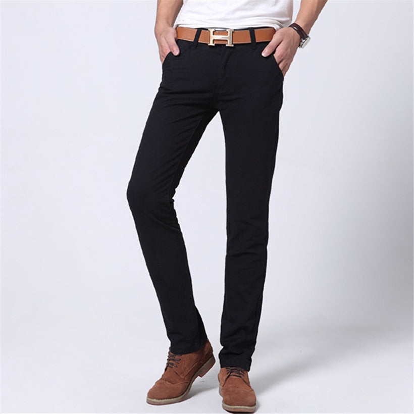 Mens Slim Fit Straight-Leg Jeans