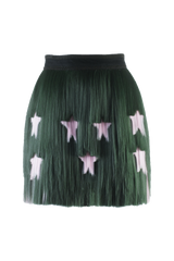 Green Signature Short Skirt A/W17