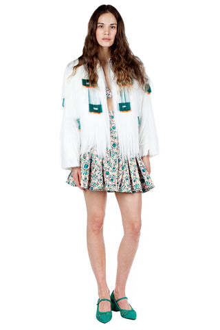 WHITE DENIM SHORT JACKET