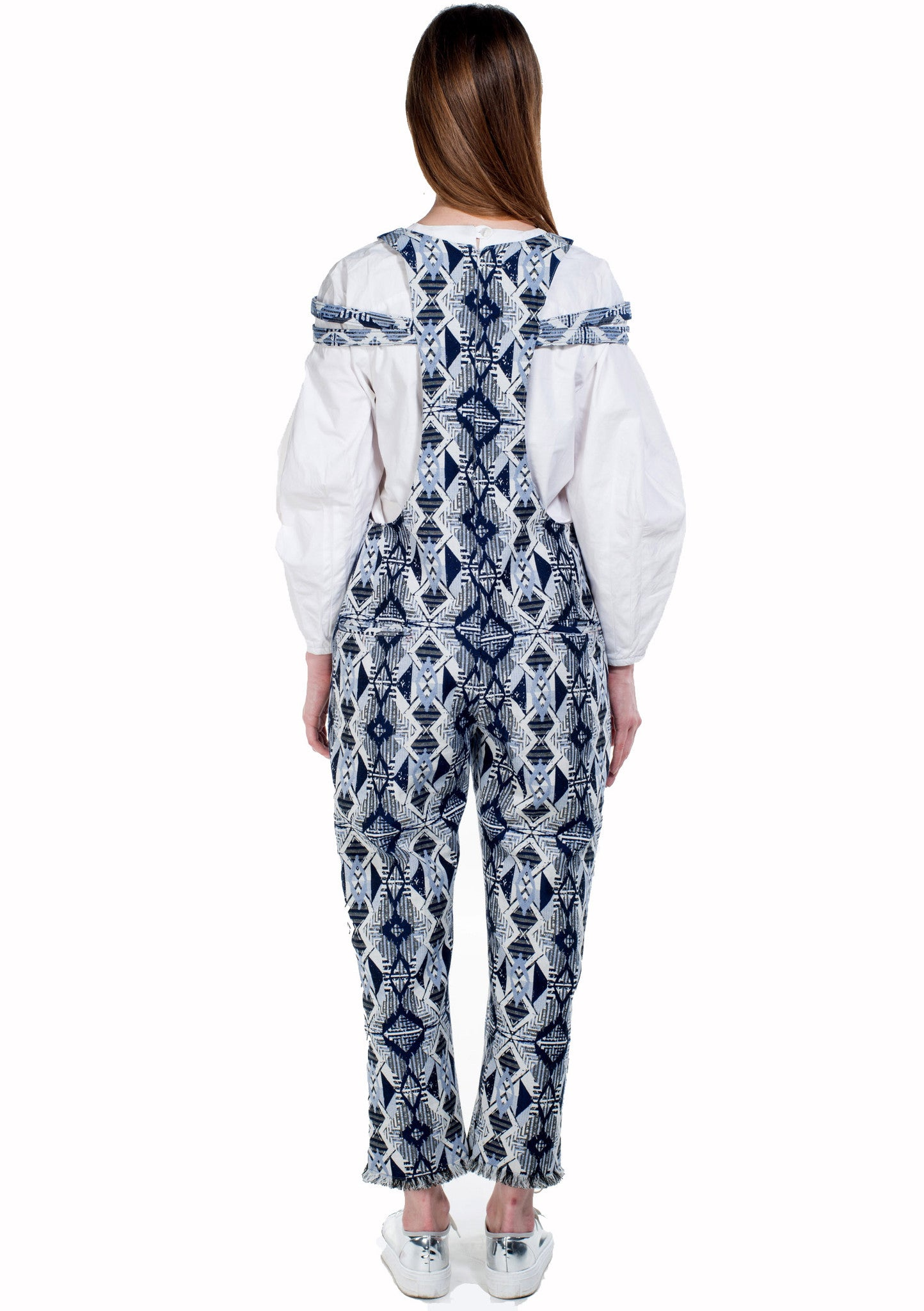 Krasimira-Stoyneva-patterned-frayed-jumpsuit