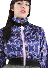Long Purple Blouse A/W 17 Krasimira Stoyneva