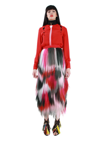 Red Signature Middle Skirt A/W17