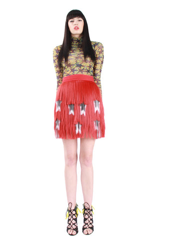 Red Frills Skirt A/W17