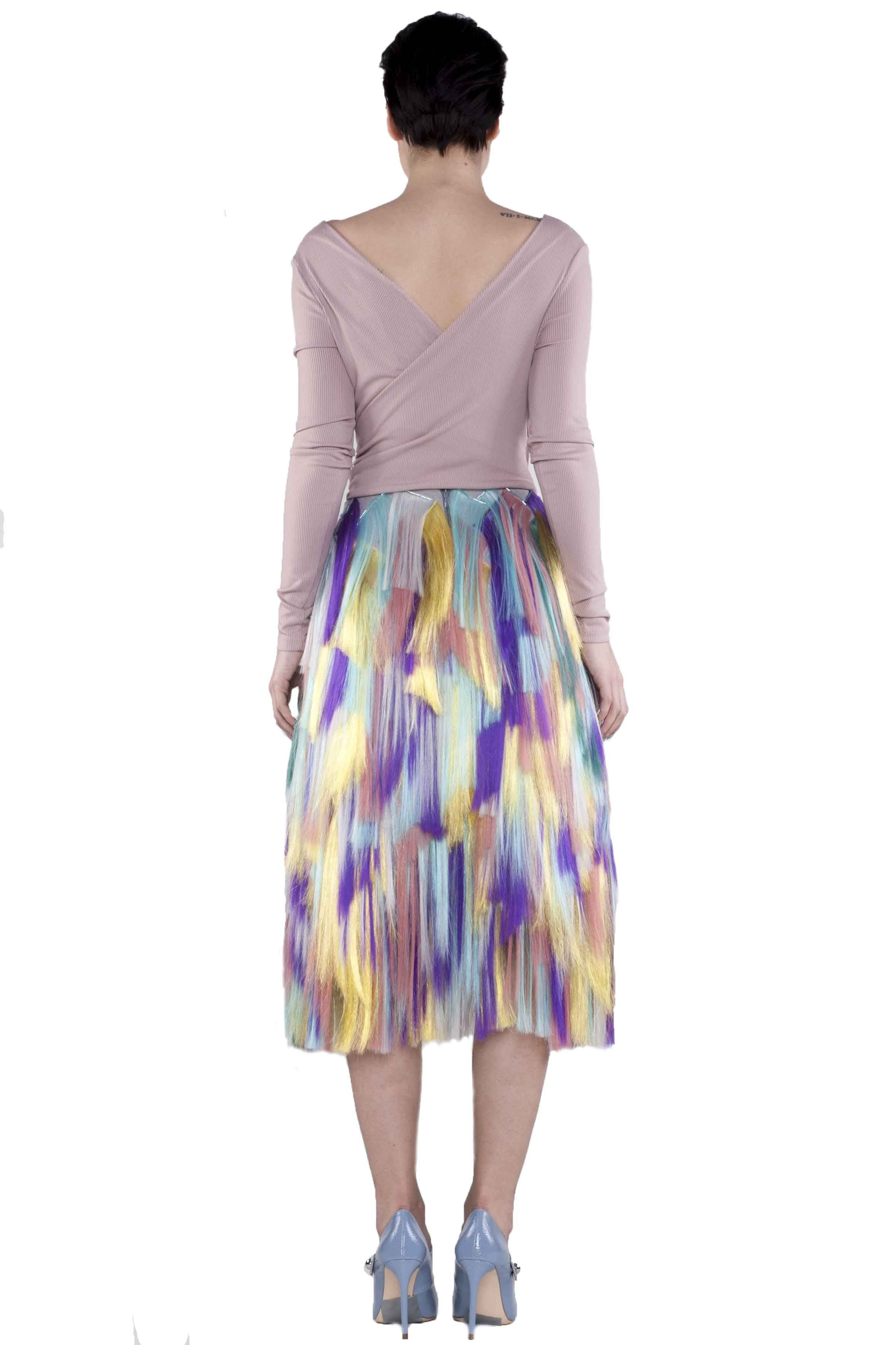 MULTICOLOUR MIDI SKIRT