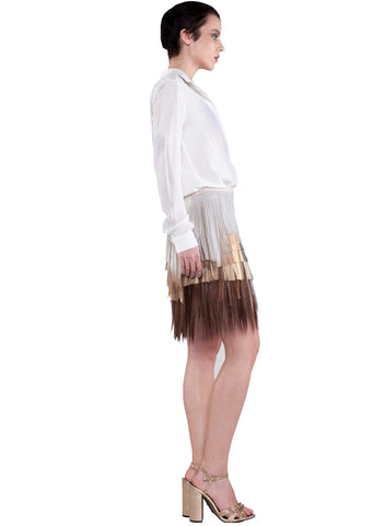 SHORT NATURAL TONE SKIRT