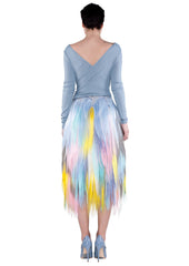 BACK multicolour pastel midi skirt