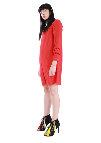 Red Long Blouse A/W 17 Krasimira Stoyneva