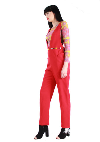 Plunge Red Jumpsuit A/W17