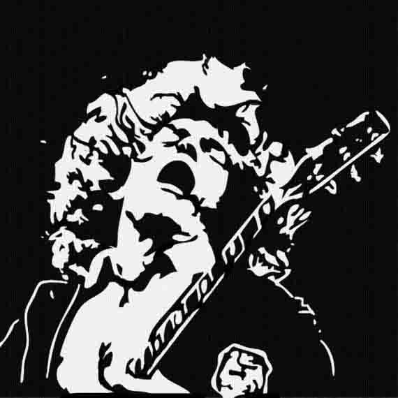 AC DC Angus Young Panel