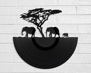 African Sunset Vinyl Record Art Vinyl Revamp - Vinyl Record Art