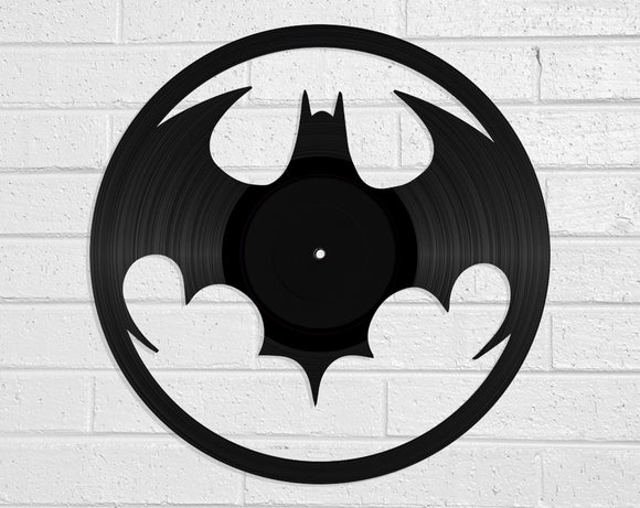 Batman Vinyl Record Art Vinyl Revamp - Vinyl Record Art