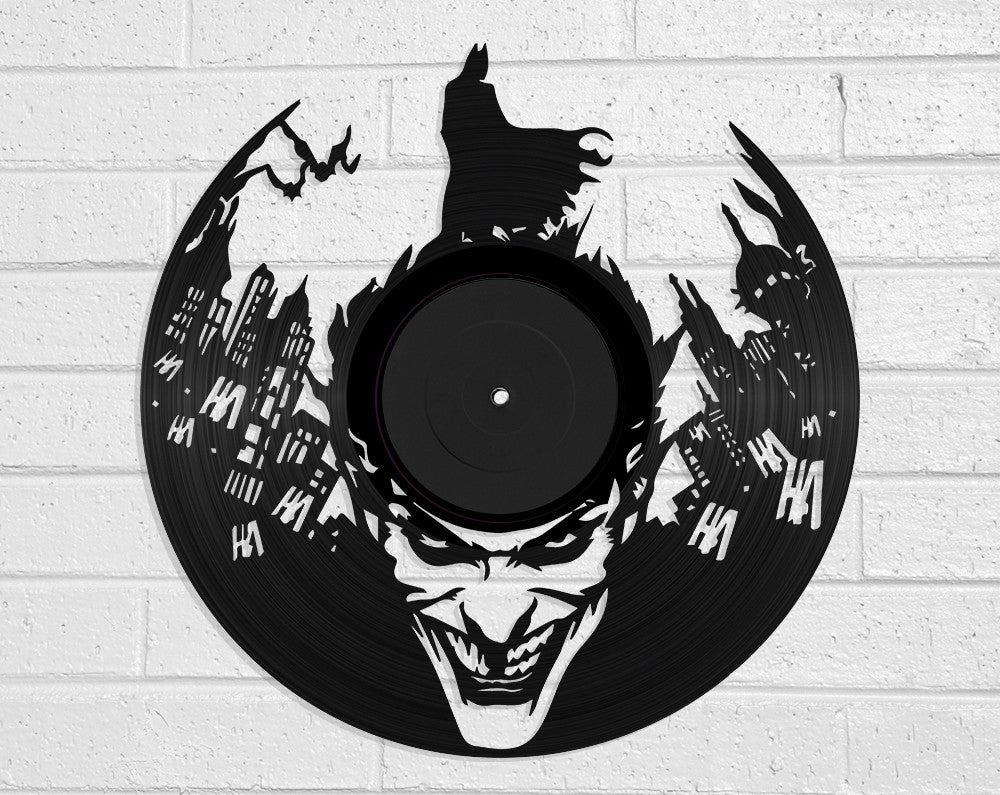 Batman & Joker Vinyl Record Art Vinyl Revamp - Vinyl Record Art