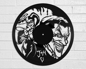 Batman - Harley & Joker Vinyl Record Art Vinyl Revamp - Vinyl Record Art