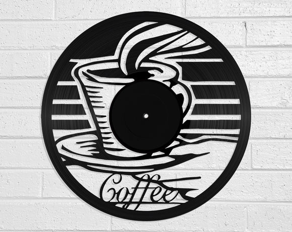 Coffee Vinyl Record Art Vinyl Revamp - Vinyl Record Art