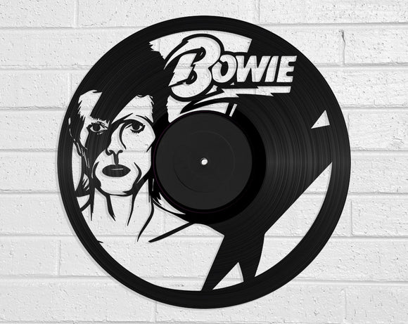 David Bowie Vinyl Record Art Vinyl Revamp - Vinyl Record Art