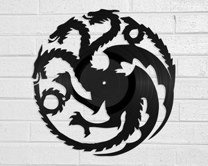 Game of Thrones Vinyl Record Art Vinyl Revamp - Vinyl Record Art