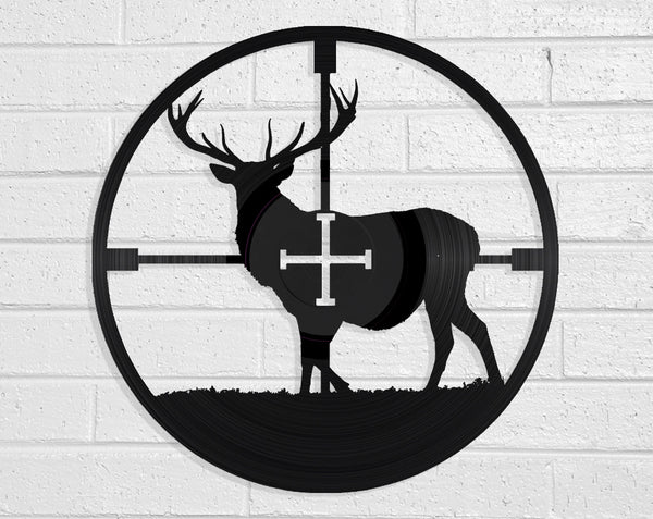 Deer In Sight Vinyl Record Art Vinyl Revamp - Vinyl Record Art