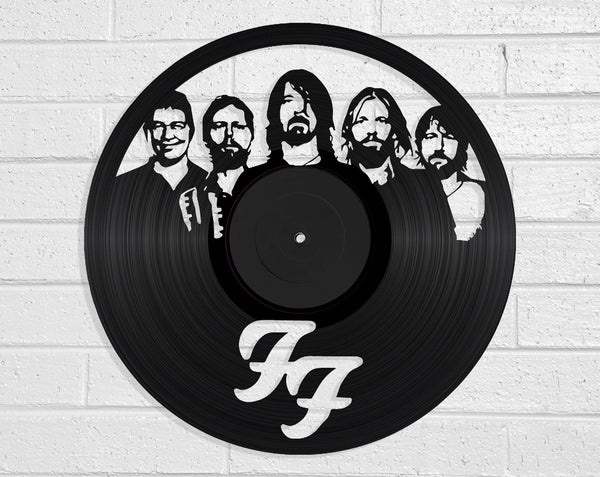 Foo Fighters Vinyl Record Art Vinyl Revamp - Vinyl Record Art
