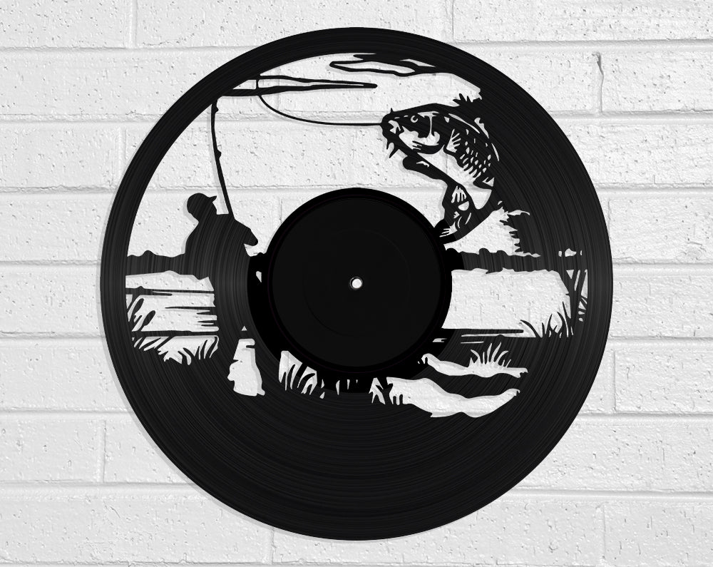 Fishing Vinyl Record Art Vinyl Revamp - Vinyl Record Art