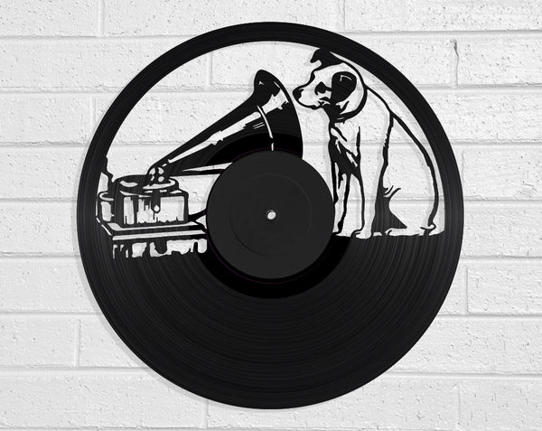 His Masters Voice Vinyl Record Art Vinyl Revamp - Vinyl Record Art
